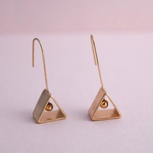 Minimalist Geometric Triangle Earrings